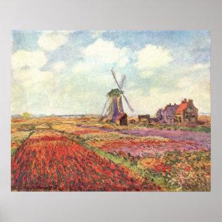 Claude Monet - poster de Tulpen von Holanda