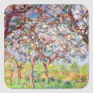 Claude Monet | Printemps a Giverny, 1903 Square Sticker