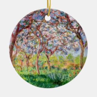 Claude Monet   Printemps a Giverny Ceramic Ornament