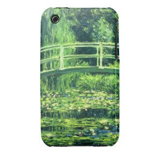 Claude Monet: Puente sobre una charca de los Case-Mate iPhone 3 Fundas