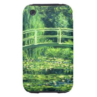 Claude Monet: Puente sobre una charca de los iPhone 3 Tough Funda