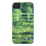 Claude Monet: Puente sobre una charca de los lirio Case-Mate iPhone 4 Fundas