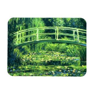 Claude Monet: Puente sobre una charca de los lirio Iman Flexible