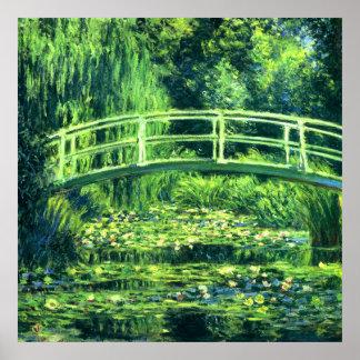 Claude Monet: Puente sobre una charca de los Póster