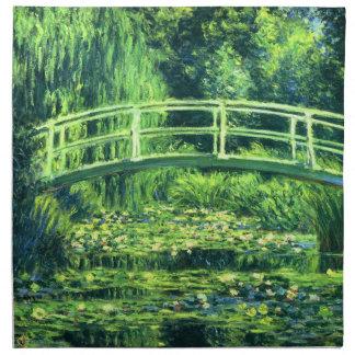 Claude Monet: Puente sobre una charca de los Servilleta De Papel
