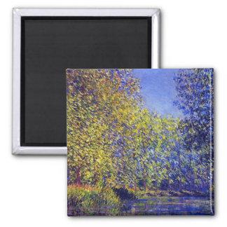 Claude Monet que pinta la curva en Epte cerca de G Imán Cuadrado