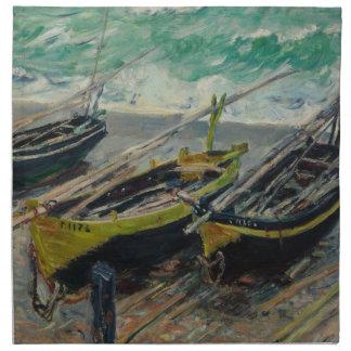 Claude Monet que pinta la naturaleza artística de Servilleta De Papel