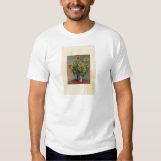 Claude Monet: Ramo de arte del vintage del girasol Poleras