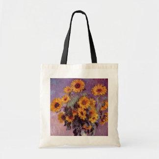 Claude Monet - ramo de girasoles Bolsas