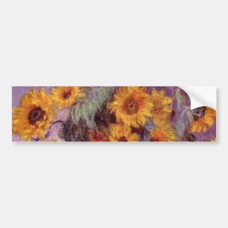 Claude Monet - ramo de girasoles Pegatina Para Auto