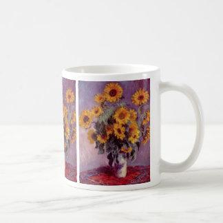 Claude Monet - ramo de girasoles Taza De Café