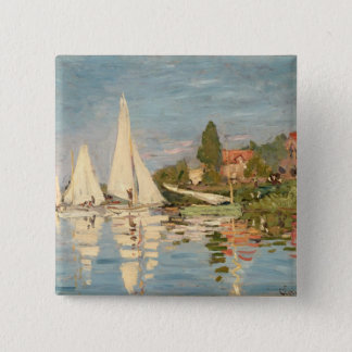 Claude Monet | Regatta at Argenteuil, c.1872 Button