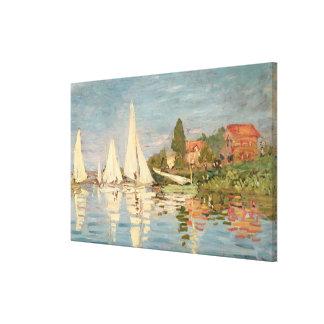 Claude Monet | Regatta at Argenteuil, c.1872 Canvas Print
