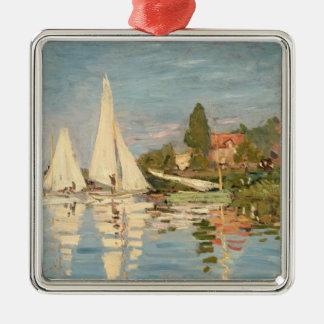 Claude Monet | Regatta at Argenteuil, c.1872 Metal Ornament