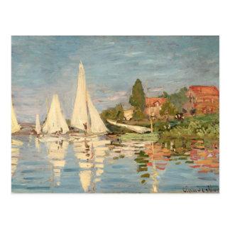 Claude Monet | Regatta at Argenteuil, c.1872 Postcard