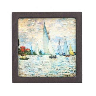 Claude Monet-Regatta at Argenteuil Keepsake Box