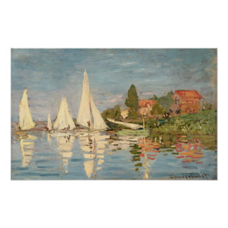 Claude Monet | Regatta at Argenteuil Poster