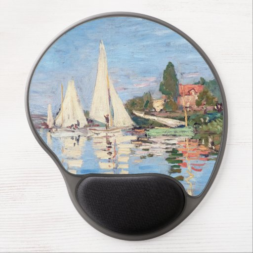 Claude Monet - Regattas at Argenteuil Gel Mouse Pad