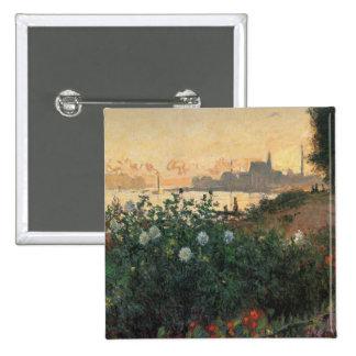Claude Monet - Riverbank florecido, Argenteuil Pin