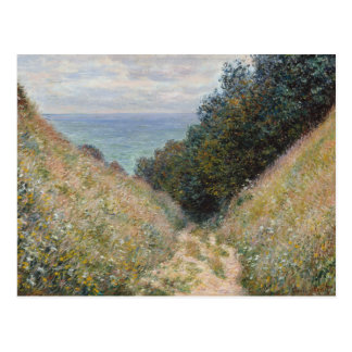 Claude Monet - Road at La Cavée, Pourville Postcard