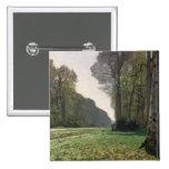 Claude Monet   Road to Bas-Breau, Fontainebleau Button