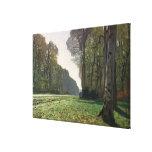 Claude Monet   Road to Bas-Breau, Fontainebleau Canvas Print