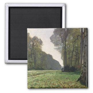 Claude Monet | Road to Bas-Breau, Fontainebleau Magnet