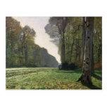 Claude Monet   Road to Bas-Breau, Fontainebleau Postcard