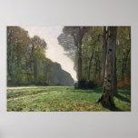 Claude Monet   Road to Bas-Breau, Fontainebleau Poster