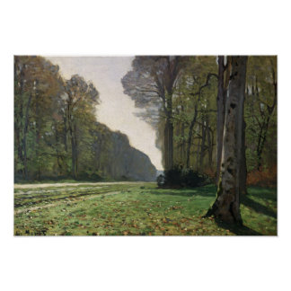 Claude Monet | Road to Bas-Breau, Fontainebleau Poster