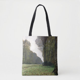 Claude Monet | Road to Bas-Breau, Fontainebleau Tote Bag