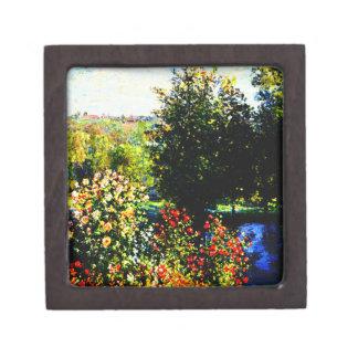Claude Monet-Roses in the Garden at Montgeron Keepsake Box