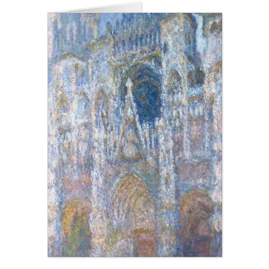 Claude Monet   Rouen Cathedral Card