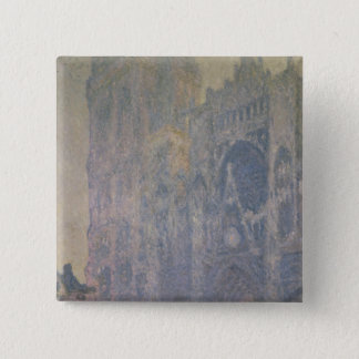 Claude Monet | Rouen Cathedral, Harmony in White Pinback Button