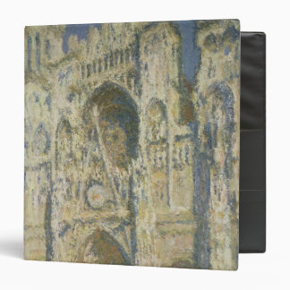 Claude Monet | Rouen Cathedral in Full Sunlight 3 Ring Binder