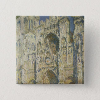 Claude Monet | Rouen Cathedral in Full Sunlight Pinback Button