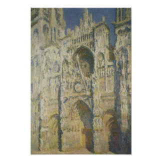 Claude Monet | Rouen Cathedral in Full Sunlight Poster
