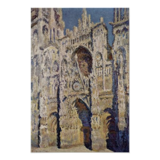claude monet rouen cathedral poster zazzle. Black Bedroom Furniture Sets. Home Design Ideas