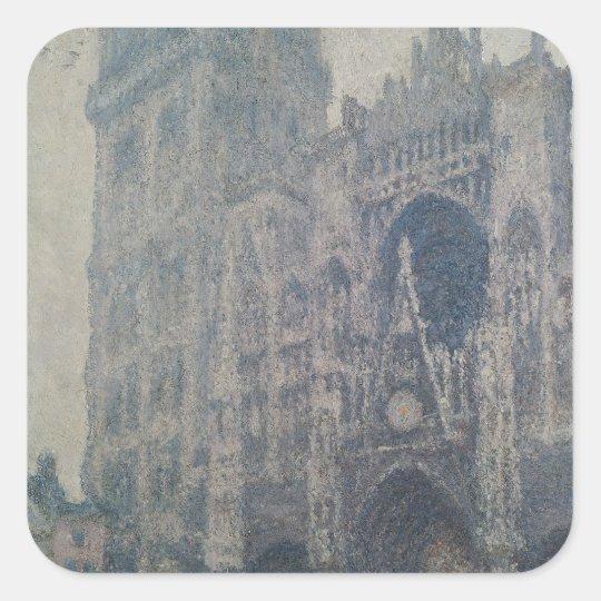 Claude Monet   Rouen Cathedral, West Portal Square Sticker