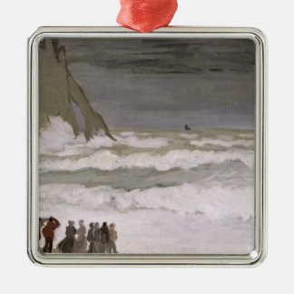 Claude Monet | Rough Sea at Etretat, 1868-69 Metal Ornament