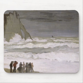 Claude Monet   Rough Sea at Etretat, 1868-69 Mouse Pad