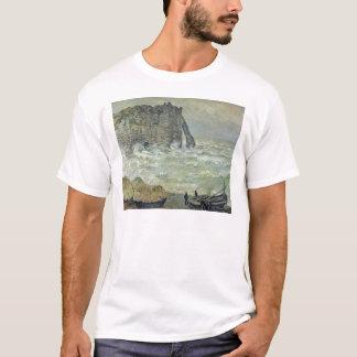 Claude Monet | Rough Sea at Etretat, 1883 T-Shirt