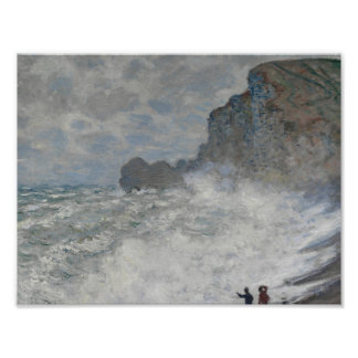 Claude Monet - Rough Weather at Étretat Poster