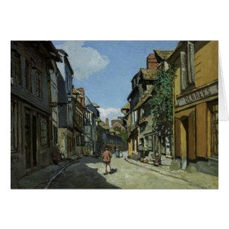 Claude Monet - Rue de la Bavole, Honfleur Card