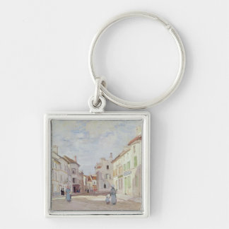 Claude Monet | Rue de la Chaussee at Argenteuil Keychain