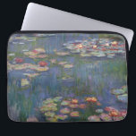 """Claude Monet's Water Lilies Laptop Sleeve<br><div class=""""desc"""">This painting is one a series of oil paintings by French Impressionist Claude Monet (1840–1926) depicting Monet&#39;s flower garden at Giverny and were the main focus of Monet&#39;s artistic production during the last thirty years of his life.</div>"""