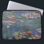 "Claude Monet's Water Lilies Laptop Sleeve<br><div class=""desc"">This painting is one a series of oil paintings by French Impressionist Claude Monet (1840–1926) depicting Monet&#39;s flower garden at Giverny and were the main focus of Monet&#39;s artistic production during the last thirty years of his life.</div>"