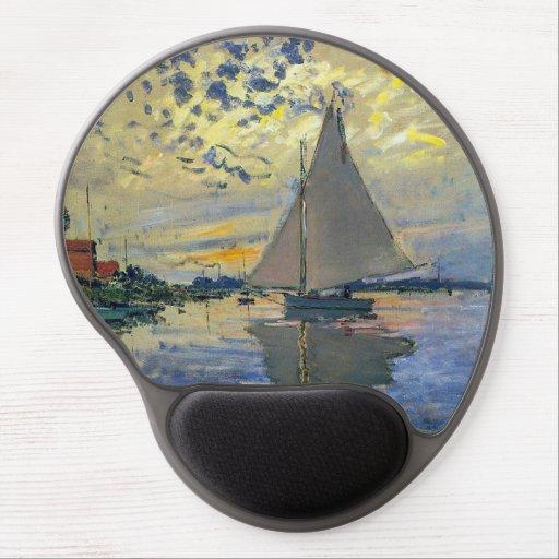 Claude Monet - Sailboat at Le Petit-Gennevilliers Gel Mouse Pad