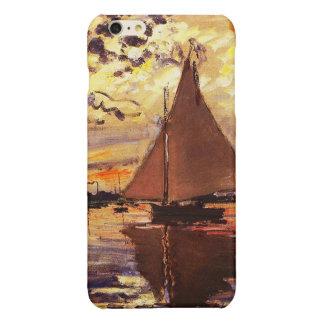 Claude Monet-Sailboat at Le Petit-Gennevilliers Glossy iPhone 6 Plus Case