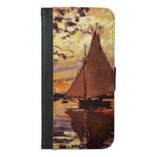 Claude Monet-Sailboat at Le Petit-Gennevilliers iPhone 6/6s Plus Wallet Case